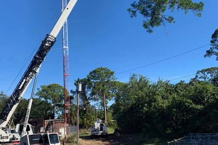 Cable clearance for cell phone tower, Palm Bay
